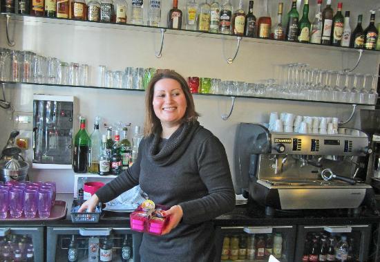 Le Figuier Hotel Restaurant: Owner, Sabrina
