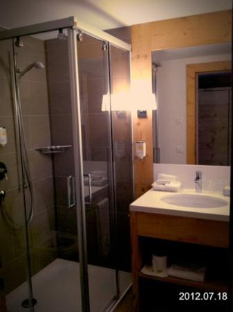 Hotel des Alpes by Bruno Kernen: Bad mit Dusche