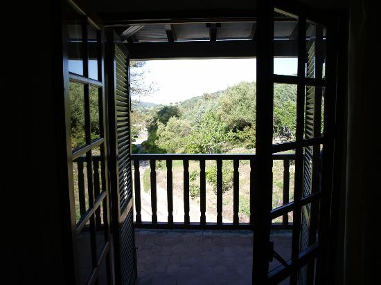 Hotel Las Truchas: Balkon met uitzicht.