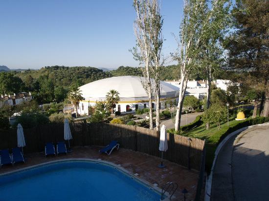 Hotel Las Truchas: Uitzicht vanaf balkon.