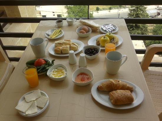 Iris Flower Hotel : the lebanese breakfast
