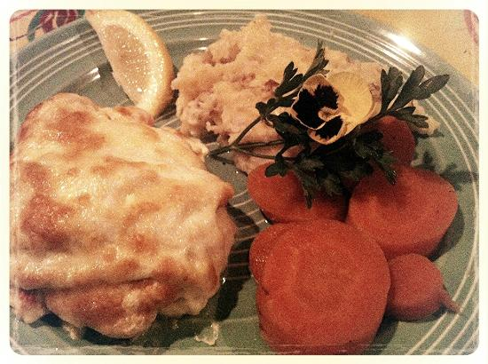 Slates Restaurant & Bakery : Haddock Stuffed with Lobster Meal