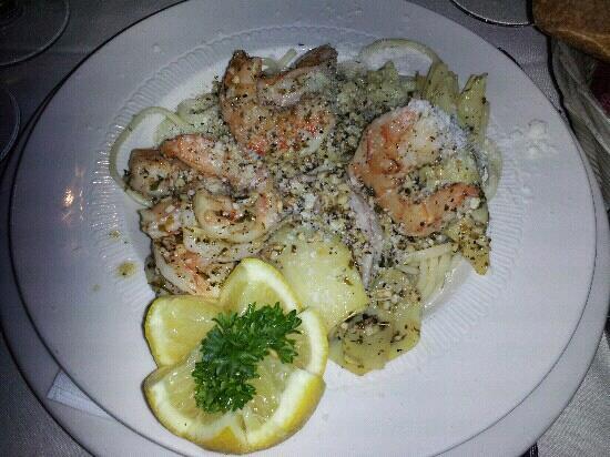 Cucina Rosa : shrimp scampi (small plate )