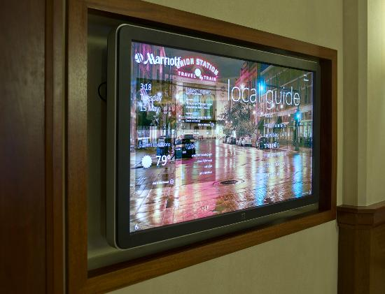 Denver Airport Marriott at Gateway Park: Touch Screen Informational Screens