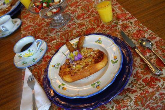 The Weston House: french toast, orange-butter syrup and sausages...more yum!
