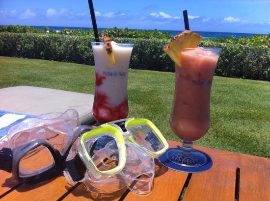 Koa Kea Hotel & Resort: Drinks before snorkeling