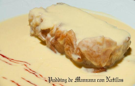 Bar la cepa : Pudding de Manzana con Natillas / Apple pudding with egg custard