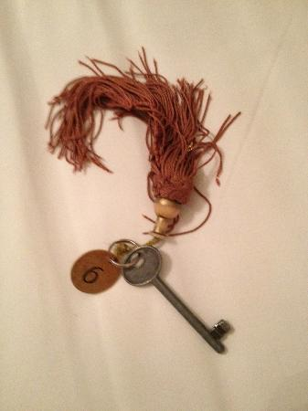 Casa Rezzonico: The key to our room.  Very cool, but you have to leave it at the front desk.