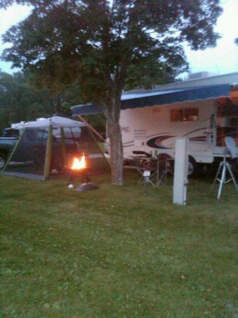 Hamilton's Fox Lake Campground: our site