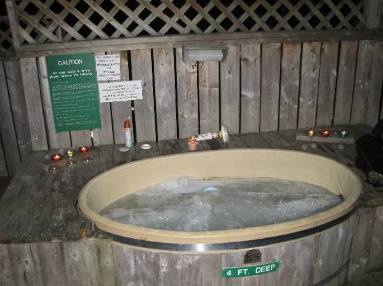 Woodland Echoes Resort: hot tub