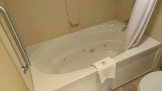Hampton Inn Pittsburgh - Mcknight Rd. : Whirlpool Tub quite small in reality.