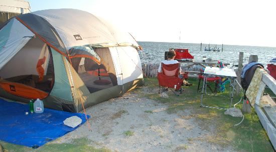 ‪‪Rodanthe Watersports and Campground‬: small site, but just right for two.