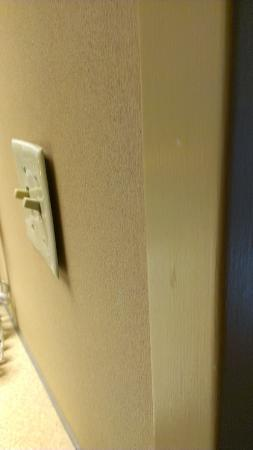 Hampton Inn Pittsburgh - Mcknight Rd.: Light switch plate pulled from the wall