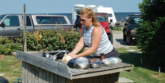 Rodanthe Watersports and Campground: not a bad place to wash dishes