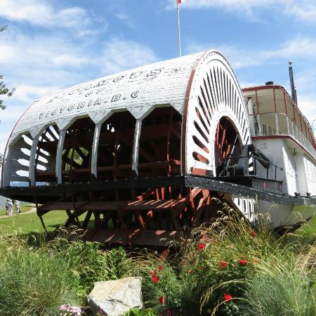 S.S. Sicamous Museum and Heritage Park: Paddlewheel of the S.S. Sicamous