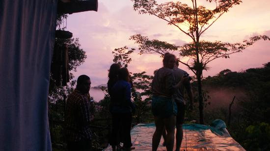 Villas Mastatal: watching the sunset