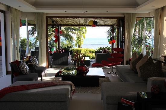 Lotus Samui: The living room and incredible view