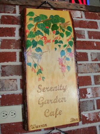 Serenity Garden Cafe: front door panel