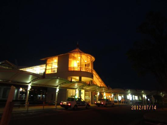 Royal Inn Station Plaza: ホテル前から新幹線の駅