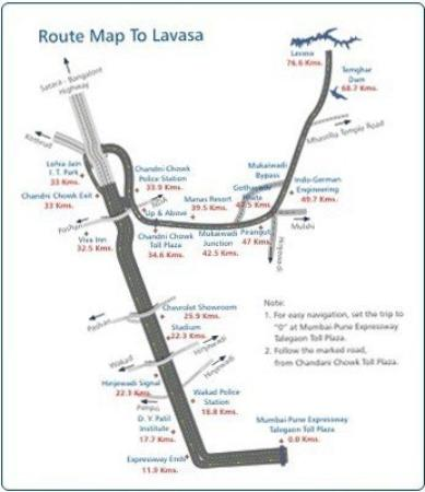 The Waterfront Shaw, Lavasa : Map