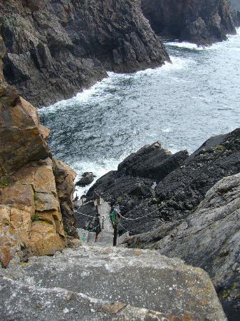 Leabgarrow, Ireland: Treppe am Leuchtturm