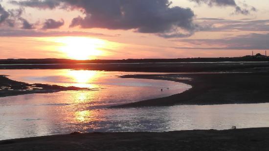 The Pennington: Sunset over the estuary