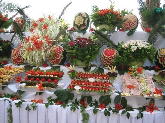 Saphir Resort & Spa : buffet lors de la soirée turc