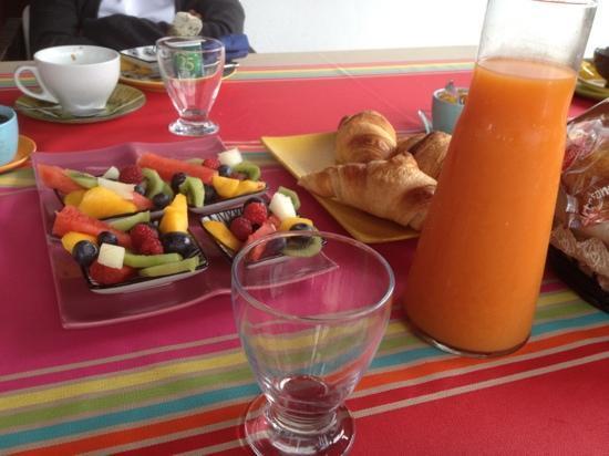 Chambres d'Hôtes Irrintzina : le petit dejeuné