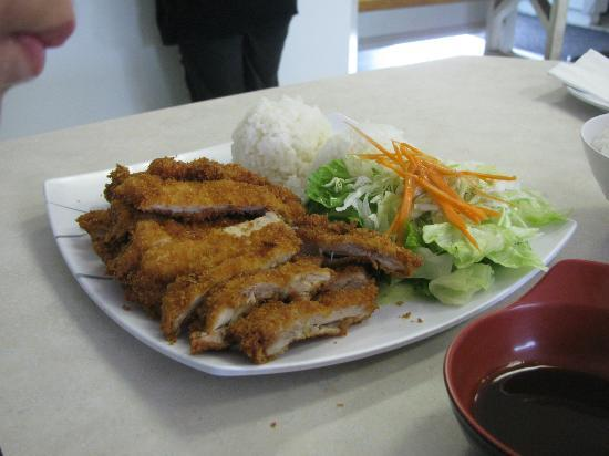 Ocean Sushi Deli: My 5 and 7-year olds shared this plate of chicken katsu