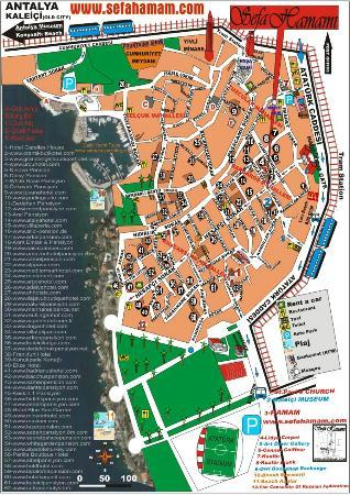 Sefa Hamam Old City Map Sefa Hamam Antalya Resmi