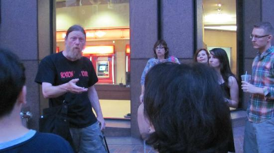 Boston Night Tour: Our great tour guide