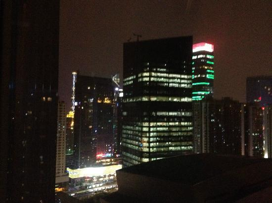 Ascott Guangzhou: view from room at night
