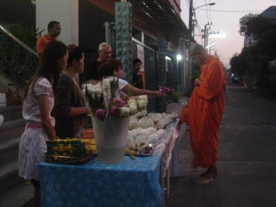 Sivalai Place: Activity: Giving Alms