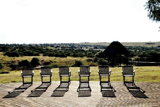Hlosi Game Lodge: Deck