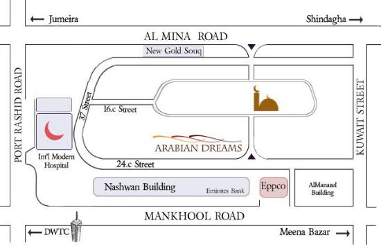 Arabian Dreams Hotel Apartments: Map