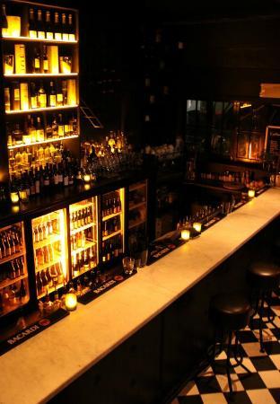 Sugar Bar: A fully stocked back bar