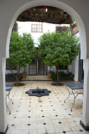 Riad Alma: courtyard and where we had breakfast