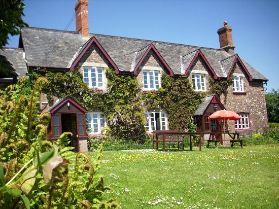Quoit-at-Cross : View of guesthouse from Garden on gorgeous summer's day!