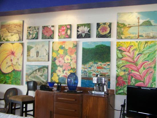 Agua Sol Villa: lobby - Ted's paintings