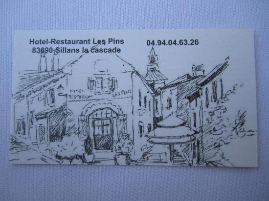 Restaurant Les Pins: visitekaartje 