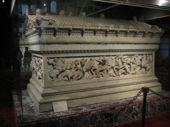 Musée archéologique d'Istanbul : sarcófago de Alexandre
