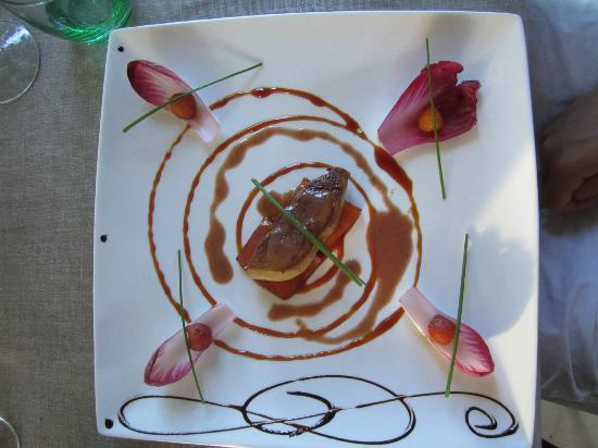 le clos des vignes : Foie gras chaud (warm)