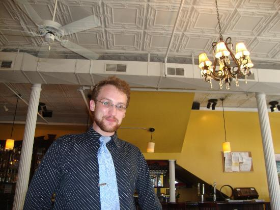 Etienne Brasserie: Our wonderful waiter who added to the fun we had