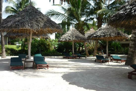 Pinewood Beach Resort & Spa: Liegefläche zum Strand