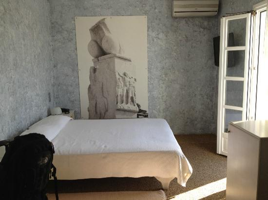 Ilio Maris Hotel: Picture of phallus ruin at Delos Island in the room