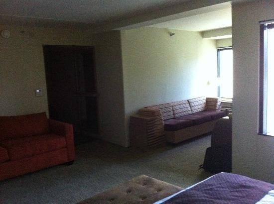 DoubleTree by Hilton Hotel Monrovia - Pasadena Area: The room was so dark.. you can't even see the door or bathroom
