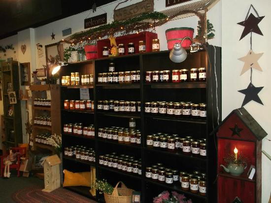 Inside of Honey Bee's. A lot of good jams,jellies and honey
