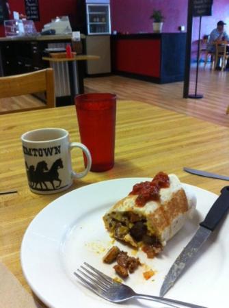 The Block House Cafe: breakfast burrito