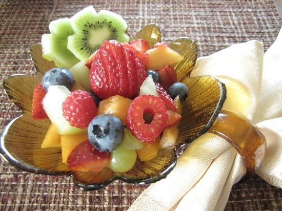 Sutherland Blueberry Bed & Breakfast: fruit salads ....mmmm delicious