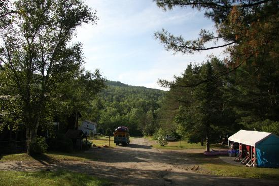 The Inn on Gore Mountain: View of the inn(L) and Beaver Brook rafting(R)